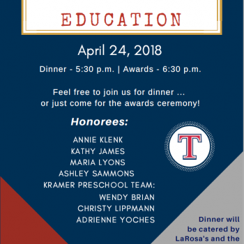 Education Banquet Flyer