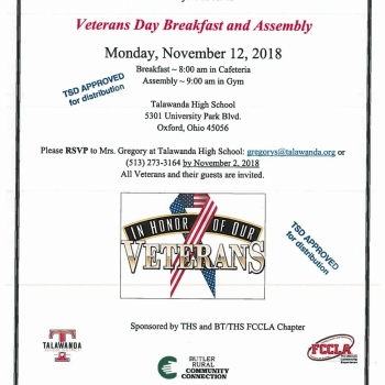 FCCLA Veteran's Event 11/12/18