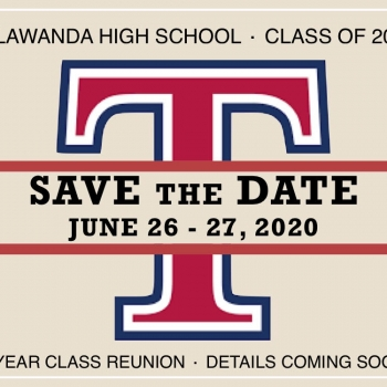 Save the Date notice for reunion